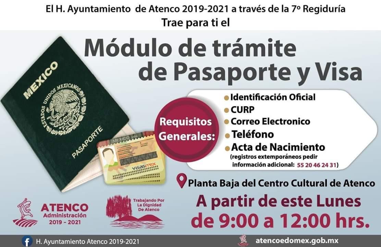Gobierno De Atenco Tramitará Pasaportes Y Visas En El